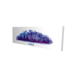 Canvas 16 x 48 - 3D - Paint splash silhouette of paris