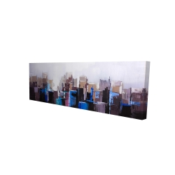 Canvas 16 x 48 - 3D - Abstract cold city