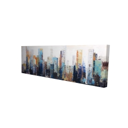 Canvas 16 x 48 - 3D - Texturized abstract city