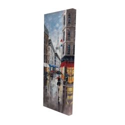 Canvas 16 x 48 - 3D - Paris street