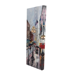 Canvas 16 x 48 - 3D - Rainy day in new york