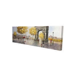 Canvas 16 x 48 - 3D - Arc de triomphe to paris