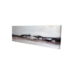 Toile 16 x 48 - 3D - Montagnes en aquarelle