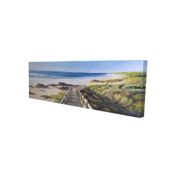 Canvas 16 x 48 - 3D - Walk to the seaside