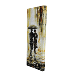 Canvas 16 x 48 - 3D - Couple under the rain