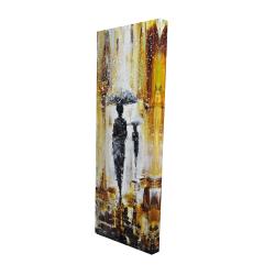 Canvas 16 x 48 - 3D - Silhouettes under the rain