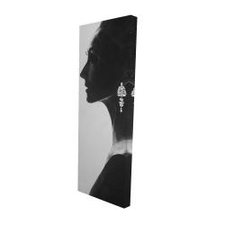 Toile 16 x 48 - 3D - Femme chic