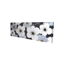 Canvas 16 x 48 - 3D - Gray flowers