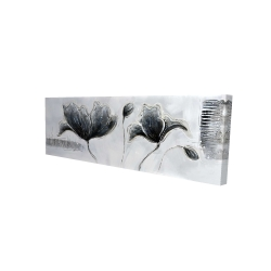 Canvas 16 x 48 - 3D - Industrial style flowers
