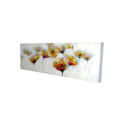 Canvas 20 x 60 - 3D - Color spotted flowers