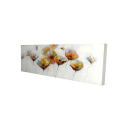 Canvas 16 x 48 - 3D - Color dotted flowers