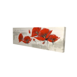 Canvas 16 x 48 - 3D - Red flowers with an handwritten typo