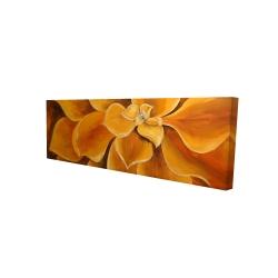 Canvas 16 x 48 - 3D - Orange flower closeup