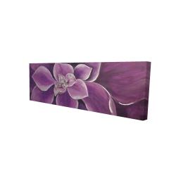 Canvas 16 x 48 - 3D - Purple flower closeup