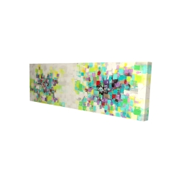 Canvas 16 x 48 - 3D - Abstract squares flowers