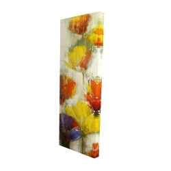 Canvas 16 x 48 - 3D - Modern yellow flowers