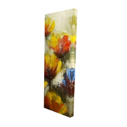 Canvas 16 x 48 - 3D - Texturized yellow flowers