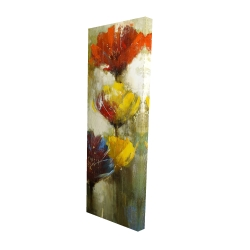 Canvas 16 x 48 - 3D - Orange and yellow flowers