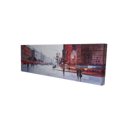 Canvas 16 x 48 - 3D - Black and red street scene