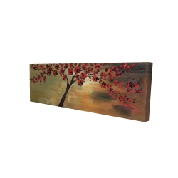 Canvas 16 x 48 - 3D - Red flowers tree