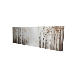 Canvas 16 x 48 - 3D - Winter forest