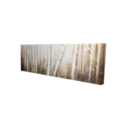 Canvas 16 x 48 - 3D - Texturized abstract forest