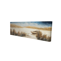 Canvas 16 x 48 - 3D - Abandoned boat