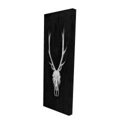 Canvas 16 x 48 - 3D - Deer skull on black background