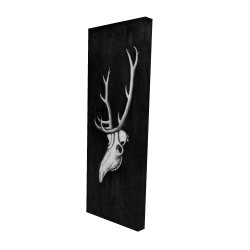 Canvas 16 x 48 - 3D - Deer skull in the dark