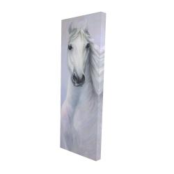 Canvas 16 x 48 - 3D - Powerful white horse