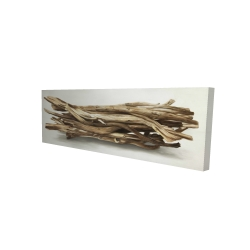 Canvas 16 x 48 - 3D - Floated wood left by the sea