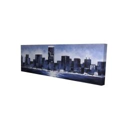 Canvas 16 x 48 - 3D - Marine blue city