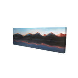 Canvas 16 x 48 - 3D - Mountains landscape