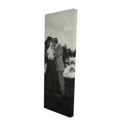 Canvas 16 x 48 - 3D - Vintage couple kissing