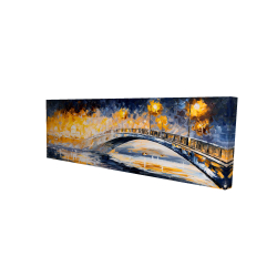 Canvas 16 x 48 - 3D - Bridge in the moonlight