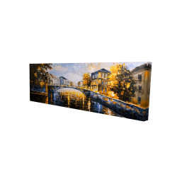 Canvas 16 x 48 - 3D - Bridge by a sunny day