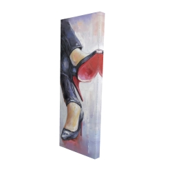 Canvas 16 x 48 - 3D - Crossed legs and high heels