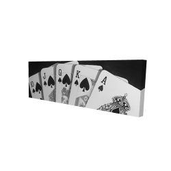 Canvas 16 x 48 - 3D - Black and white card game