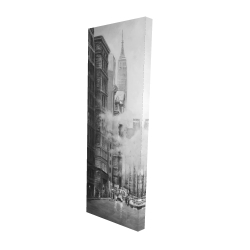 Canvas 16 x 48 - 3D - Morning in the streets of new-york city monochrome