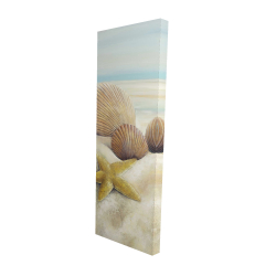 Canvas 16 x 48 - 3D - Starfish and seashells view on the beach