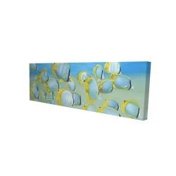 Canvas 20 x 60 - 3D - Butterfly fishes