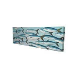 Canvas 16 x 48 - 3D - Small fish of caesio caerulaurea