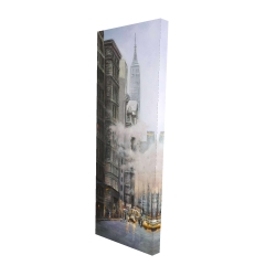 Canvas 16 x 48 - 3D - Morning in the streets of new-york city