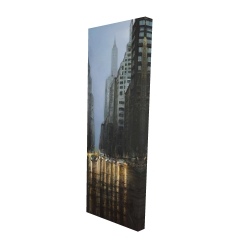 Canvas 16 x 48 - 3D - Evening in the streets of new-york city