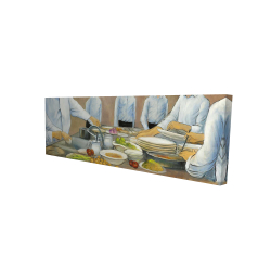 Canvas 16 x 48 - 3D - Cook chefs at work