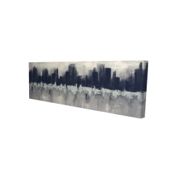 Canvas 16 x 48 - 3D - City by sponge technique