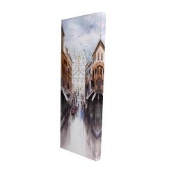 Canvas 16 x 48 - 3D - Watercolor style busy street