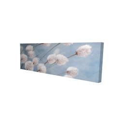 Canvas 16 x 48 - 3D - Delicate cotton flowers