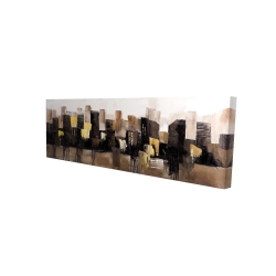 Canvas 16 x 48 - 3D - Earthy tones abstract cityscape