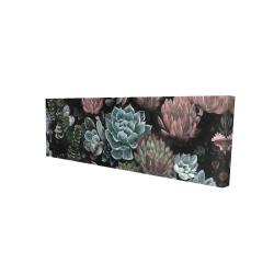 Canvas 16 x 48 - 3D - Succulent set